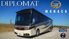 Must See New Luxury Motorhome! 2016 2017 Monaco Diplomat RV Review at MH...