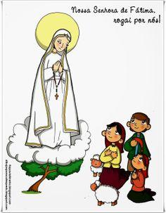 Tia Paula: Nossa Senhora de Fátima para colorir
