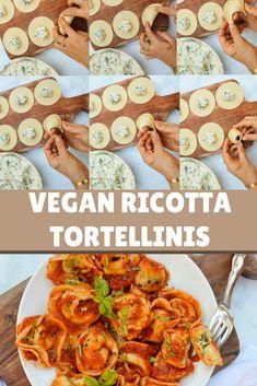 Vegan ricotta tortellinis #vegan #vegantortellini #veganricotta #veganitalian
