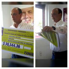 No queremos dinero de ciudadanos, dice Javier Mesta y rompe cheque | El Puntero