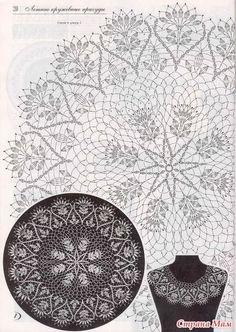 Crochet lace collar pattern free knitting ideas for 2019 Filet Crochet, Crochet Art, Crochet Home, Thread Crochet, Vintage Crochet, Crochet Stitches, Free Crochet Doily Patterns, Crochet Doily Diagram, Crochet Motif