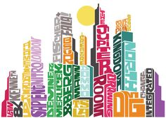 Here is calligram of different buildings  what have the names of what country that they are located in. I really like the concept of this idea because it is very eye-catching.