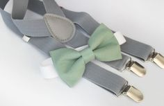 Hey, I found this really awesome Etsy listing at https://www.etsy.com/listing/243477338/sage-green-bow-tie-light-gray-elastic