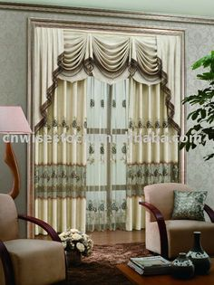 Cantonniere broderie rideau en fen tre rideaux id du produit 346975091 for Valence rideau pour cuisine