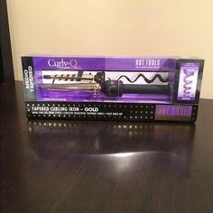 "Hot Tools Tapered Curling Iron in Gold NEW!!!!  Never used. Medium barrel 1"" to 1/2"" tapered curls. Hot Tools Other"