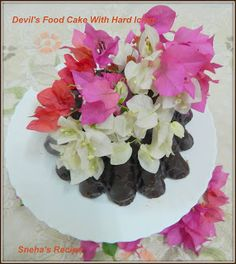 Devil's Food Cake With Hard Icing#BundtBakers - Sneha's Recipe Cold Cake, Chocolate Bundt Cake, Devils Food, Nigella Lawson, Egg And I, Vanilla Essence, Orange Blossom, Rose Water, Hibiscus
