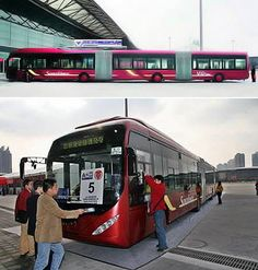 The World's Longest Bus is made in China, costs USD 250,000, and it only works in cities without corners, The other way would be to drive from one block to another without turning. This 83 foot long bus has a capacity of 300 people and is divided into 3 compartments, due to this its speed limit is up to 51mph max, probably to avoid any unwanted incident, but then with that kind of speed this bus would cause traffic jam that might clog up the city.
