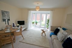 Living Room at Plumlife Development - Nightingale Gardens, Salford.