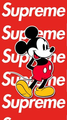 Mickey Mouse Supreme wallpaper by - cb - Free on ZEDGE™ Bape Wallpaper Iphone, Mickey Mouse Wallpaper Iphone, Hype Wallpaper, Cartoon Wallpaper Hd, Iphone Background Wallpaper, Cool Wallpaper, Graffiti Wallpaper, Supreme Iphone Wallpaper, Supreme Art