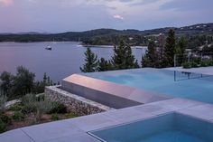 Corfu vacation house, Greece by Pitsou Kedem Architects – casalibrary Pitsou Kedem, Corfu Greece, Pool Designs, Lighting Design, Architects, Infinity Pools, Outdoor Decor, Vacations, Photography