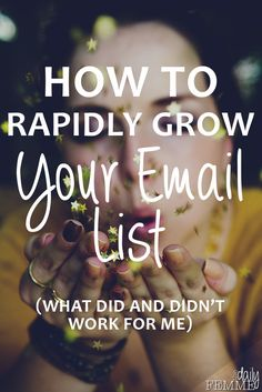 We have all heard how important it is to grow your email list but do you know how to do it? Or which is the best way? Here's what has (and hasn't) worked for me and what I'm doing now.