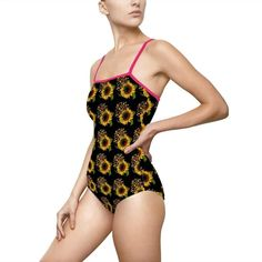 Women's One Piece Swimsuits, Spandex, One Piece For Women, Swimmers, Autism, Vivid Colors, Construction, Printed, Fabric