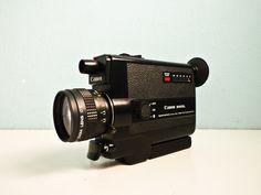 Vintage Camera Canon 310 XL Super 8 Movie Video Camera. €85,00, via Etsy.