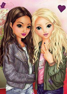 Best Friends Cartoon, Friend Cartoon, Best Friend Drawings, Bff Drawings, Black Girl Art, Art Girl, Aesthetic Photography Grunge, Disney Divas, Character Design Girl