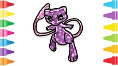 Glitter Pokemon Mew how to coloring and drawing for Kids & Color pages Pokemon Mew, Fun At Work, Drawing For Kids, Coloring For Kids, Glitter, Make It Yourself, Drawings, Painting, Coloring Pages For Kids