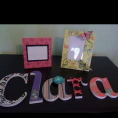 Nursery letters and frames I made for my baby girl!