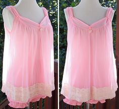POWDER Puff 1950's 60's Vintage Sexy Sheer Baby by Jewels4pandas