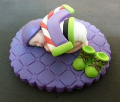 Fondant Buzz Lightyear baby cake topper by evynisscaketopper