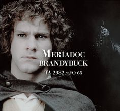 30 day challenge: day 1 Your favourite hobbit: Merry - because he's brave, funny and smart..