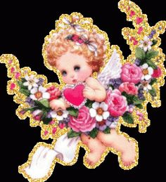 Imagen de amor de un angelito con movimiento - http://www.imagenesdeamor.pro/2013/07/imagen-de-amor-de-un-angelito-con-movimiento.html