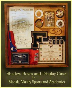 Military Shadow  on Wood Display Cases  Military Flag Shadow Boxes   Greg Seitz
