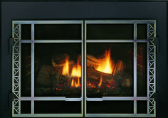 Add color and depth with a lattice overlay.  D Series Insert model with Prairie front and Vintage Iron Lattice Overlay. Fireplace Fronts, Fireplace Inserts, Gas Fireplace, Vintage Iron, Hearth, Overlay, Doors, Model