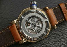 Visconti W110 Grand Cruise Bronze Watch caseback