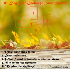 October 30 Day Self-Challenge Tarot Spread