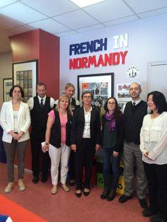 Valerie Fourneyron visite French in Normandy - Accredité #IALC Qualité apprentissage du français pour jeunes du monde entier
