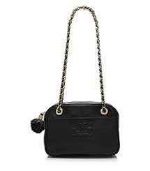in love for fall. Tory Burch Thea Crossbody Chain Bag in black