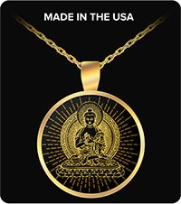 Yoga Jewelry Buddha Gold Plated Necklace Gift Yellow