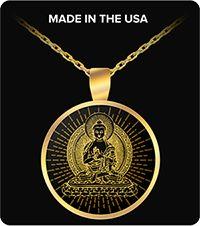 Yoga Jewelry Buddha Gold Plated Necklace Gift Yellow