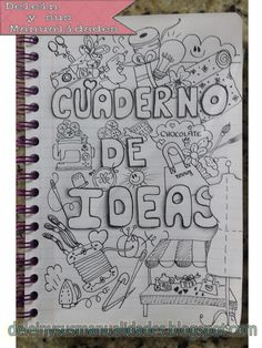 uploaded this image to & deleinysusmanualidades& de las ideas& See the album on Photobucket. What To Draw, How To Draw Hands, Filofax, Decorate Notebook, Moleskine, Journal Inspiration, School Supplies, Diy And Crafts, Letters