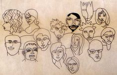 Wire Faces - Wall Art.