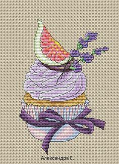 Zz Cupcake Cross Stitch, Cross Stitch Fruit, Cross Stitch Kitchen, Mini Cross Stitch, Cross Stitch Flowers, Cross Stitch Designs, Cross Stitch Patterns, Cross Stitching, Cross Stitch Embroidery