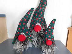 Weihnachtsfiguren - Weihnachtswichtel 3-tlg., Wichtel-Trio - ein Designerstück von kre-v-ativ bei DaWanda