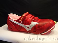 Red Running Shoe Cake