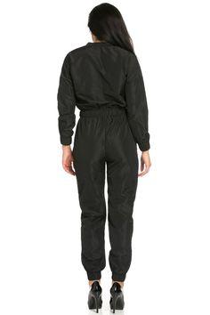 myyuccie - Top Gun Flight Bomber Jumpsuit in Black Hijab Fashion Inspiration, Style Inspiration, Black Jumpsuit, Parachute Pants, Nice Dresses, Overalls, One Piece, Long Sleeve, Top Gun