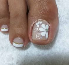 Cute Pedicures, Manicure And Pedicure, Best Nail Art Designs, Toe Nail Designs, Toe Nail Art, Acrylic Nails, Pretty Toe Nails, Summer Toe Nails, Pedicure Designs