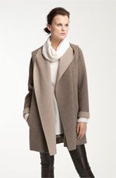 Vince Two Tone Draped Coat - love