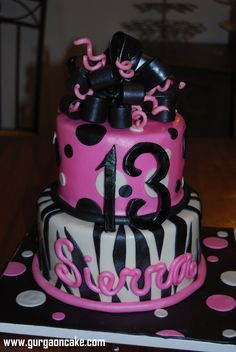 Th Birthday Cake Ideas For Girls 13th 14th Cakes
