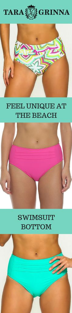 Figure flattering floral swimsuit bottom is perfectly fitting to all body  shapes. Pink bathing suit 9867dbf788a