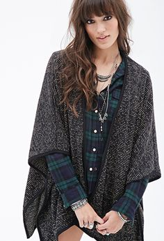 Two-Tone Open-Front Cardigan | FOREVER21 - 2000097976