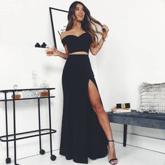 49 Faldas Largas de Moda para que luzcas con Estilo Sweet 16 Dresses, Lovely Dresses, Swag Outfits, Skirt Outfits, Party Gowns, Party Dress, Quince Dresses, Mermaid Prom Dresses, The Dress
