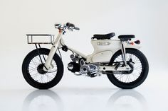 The Deus Sea Sider is a surf-ready commuter for Balinese adventures - Acquire Honda Cub, C90 Honda, Motorcycle Camping, Moto Bike, Motorcycle Design, Honda Motorcycles, Vintage Motorcycles, Honda Scooters, Honda Wave