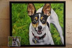 Custom Oil/Acrylic on Gallery Canvas Pet by CameronDixonsArt