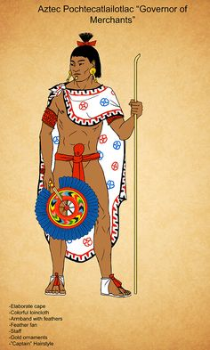 I'll keep this one short and sweet since it's hard to type with my left. This is a Governor of the Merchants or Pochtecatlailotlac. He was the leader or Captain of the Pochteca. The Pochteca were s...