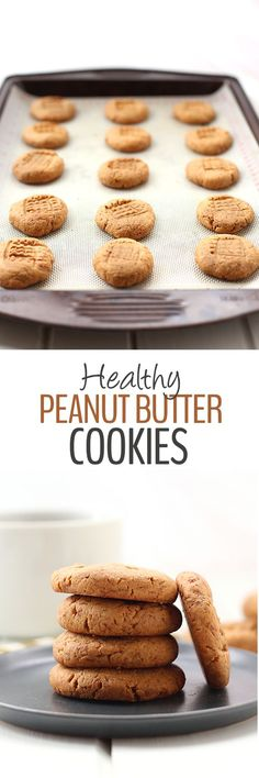 A recipe and video for Healthy Peanut Butter Cookies made with just 3 simple ingredients and in only 1 bowl! These cookies are ready to eat in under 20 minutes. Healthy snacking doesn't get easier than this!