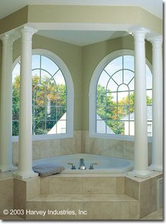Large windows are ok if there is a lot of privacy around the house