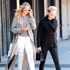 Like mother, like daughter—Gigi and Yolanda's stellar street style. Photo: Splash News